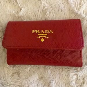 Authentic PRADA✨6-Ring Key Holder in Fiery Red ❤️